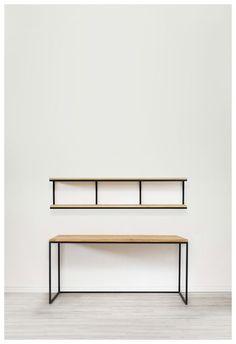 Items similar to Set desktop Oregi on Etsy Loft Furniture, Iron Furniture, Steel Furniture, Home Decor Furniture, Industrial Furniture, Furniture Projects, Rustic Furniture, Furniture Design, Furniture Stores
