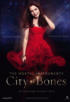 City of Bones New York never sleeps, neither do his demons. Epic Movie, Love Movie, Lily Collins, Constantin Film, To The Bone Movie, Immortal Instruments, City Of Ashes, Harry Styles Edits, Cassandra Clare Books