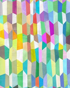 Trapezoid Love Art Print by Melanie Mikecz, via Etsy - would make a great quilt - cheery colors