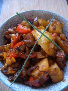 Poêlée de légumes et pommes de terre au Chorizo.