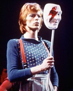 David Bowie Mask 8x10 Photograph