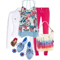 """Bright jeans 1"" by ivanyi-krisztina on Polyvore"