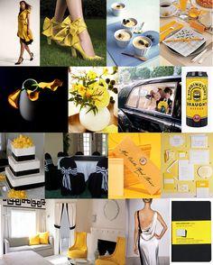 Yellow, black and white wedding inspiration.  #yellowwedding #blackwedding #whitewedding