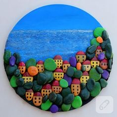 Stone painting is an easy, enjoyable and quite pleasant task. A wonderful stone painting village theme with a village theme […] Pebble Painting, Pebble Art, Stone Painting, Rock Painting, Diy Painting, Stone Crafts, Rock Crafts, Arts And Crafts, Art Crafts