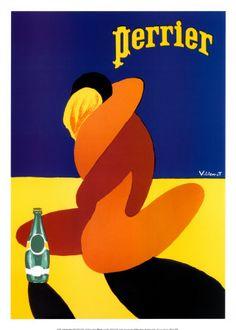 Perrier Posters af Bernard Villemot på AllPosters.dk