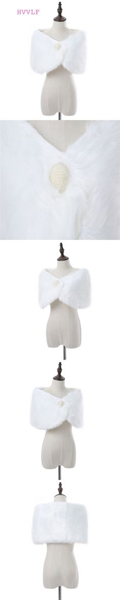 White Faux Fur Pearl Wedding Wrap Bridal Cape Bridal Wrap Shrug Stole Cape Women wedding Shawl