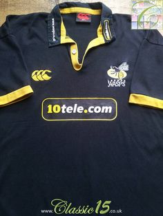 Relive London Wasps  2004 2005 season with this vintage Canterbury home  rugby shirt. 66c0a3c4c