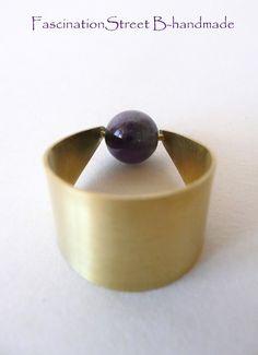 FascinationStreet B-handmade: Ring/Anello in ottone e ametista