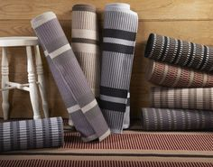 Hartley U0026 Tissier Stripes Collection Of Flatweave Stair Runners And Carpets.