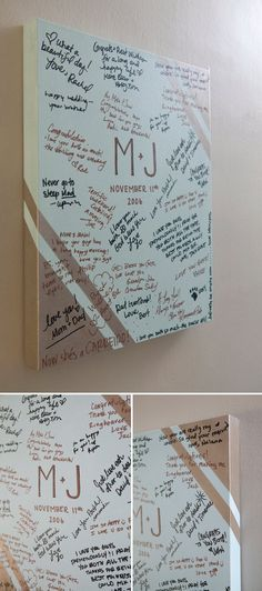 DIY personalized painted canvas guestbook. Great for a graduation party as something to take with you.