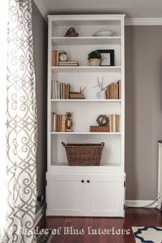 Bookcase before it was converted into a built-in