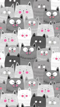Cartoon Cats iPhone Wallpaper