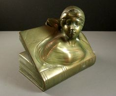 Jennings Brothers BEATRICE Bookend // 1920s Art Deco Period // Signed // from Successionary, $162.99