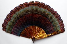 Marquetry of feather, duvelleroy fan circa 1900