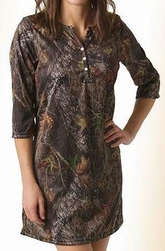 Southern Sisters Designs - Mossy Oak Break-Up Camo Henley Night Shirt, $32.95 (http://www.southernsistersdesigns.com/mossy-oak-break-up-camo-henley-night-shirt/)