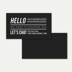 Business Card, Business Card Template, marketing, marketing template, Digital Download, Template, Minimal, tyography, simple