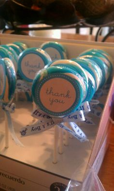 Boy baby shower - Cute Thank you / Favors