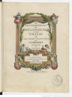 Les Métamorphoses de Melpomène et de Thalie ou Caractères dramatiques des comédies françaises et italienne