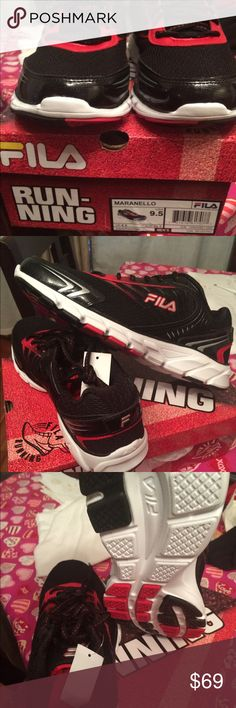 New with tags men's FILA running shoes New in box with tag never used Fila Shoes Athletic Shoes