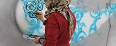 Shamsia Hassani, Sound Central Festival, Kabul, 2012. Image courtesy the artist.