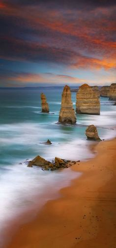 The Twelve Apostles II (Victoria) Melbourne, Australia by Noval Nugraha Places Around The World, Oh The Places You'll Go, Places To Travel, Places To Visit, Australia Travel, Melbourne Australia, Vic Australia, Western Australia, Melbourne Beach