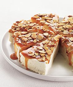 Caramel Almond Ice cream torte - looks like this would be right up my husband's taste buds' alley.