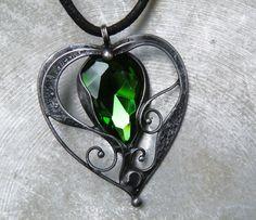 Smaragdové srdce...(sklo)