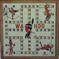 Wa Hoo Board Game - Marble Game from late 40's - Present. Kinda like the game Sorry.