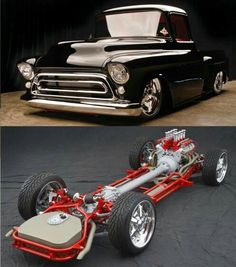1957 Chevy truck and frame