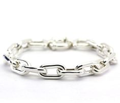 Sterling Silver Oval Link Chain Bracelet  #Chain