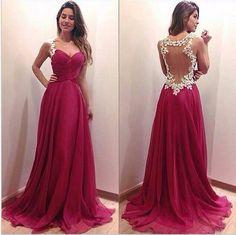 vestidos vinho longo - Pesquisa Google