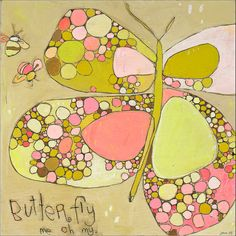 Me Oh My Butterfly Canvas Print by Jennifer Mercede 14X14