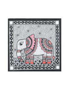 Buy Elephant Madhubani Painting x Online Peacock Painting, Madhubani Painting, Oil Painting Abstract, Abstract Art, Ganesha Painting, Silk Painting, Kalamkari Painting, Madhubani Art, Indian Folk Art