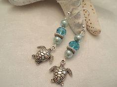 Turtle Earrings Nature Earrings Sealife by TreasureIsleGiftShop