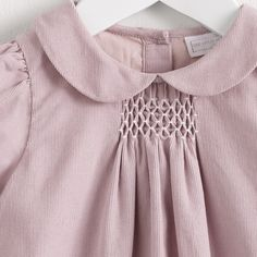Smocked Pink Corduroy Dress | The White Company