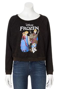 Disney Frozen Crop Sweatshirt - Juniors #Kohls