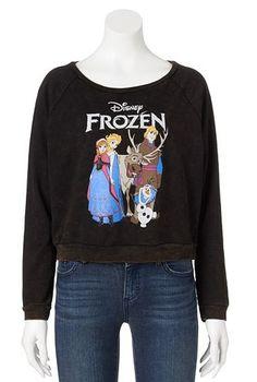 Disney Frozen Crop Sweatshirt - Juniors #Kohls