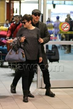 Josh Dallas and Ginnifer Goodwin arriving back in Vancouver (January 5th 2014)