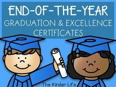 EDITABLE Graduation and Excellence in Subject & Character Certificates Pre K Graduation, Kindergarten Graduation, End Of School Year, End Of Year, Summer School, Hard Work And Dedication, Classroom Activities, Student Learning, Certificate