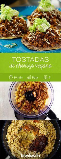 Aprende Cómo Preparar Chorizo Vegano A Base De Nuez Y Garbanzo Y Sirve En Tu Próxima Comida Estas R Recetas Vegetarianas Comida Vegana Mexicana Recetas Veganas