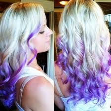 Platinum, purple and blue