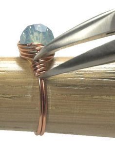 Free step-by-step tutorial for making a basic wire-wrapped bead ring; plenty of photos . . . . ღTrish W ~ http://www.pinterest.com/trishw/ . . . . #handmade #jewelry