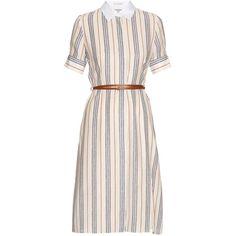 1c61dd2f829616 Altuzarra Kieran striped crepe de Chine shirtdress (€550) ❤ liked on  Polyvore featuring