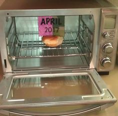 Pregnancy Reveal. Love!! But then I'll have to clean my oven?!!