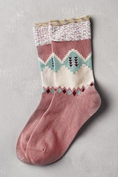 Pastel Pink Geo Crew Socks — Earthbound Trading Company