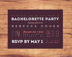 DIY Printable Bachelorette Party Invitation on Etsy, $15.00