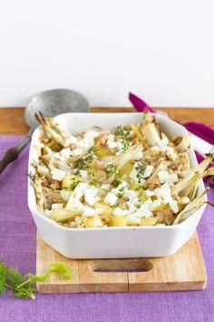 Fenchel Kartoffel Auflauf mit Walnüssen und Zitrone / Fennel potatoe casserole with walnuts and lemon