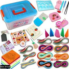 The Most Complete Quilling Paper Set With Plastic Storage Box