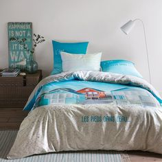 La Redoute Interieurs Capanno Striped Fitted Sheet