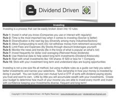 Dividend Driven   Investing